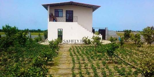 خانه باغ شمال بابلسر باغ مرکبات و گوج سبز همراه با آبیاری قطره ای
