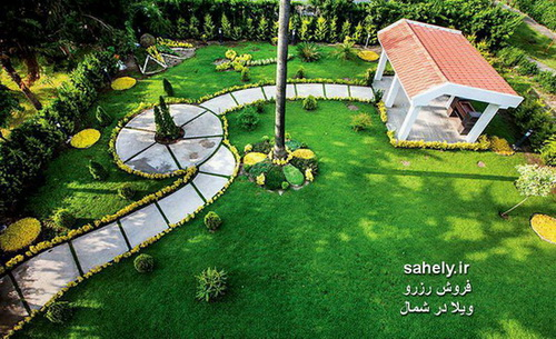محوطه سازی ویلا خزرشهر