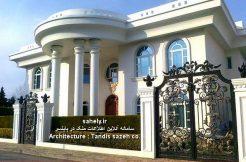 خزرشهر شمالی ویلای استخردار کلاس لوکس با معماری کلاسیک خزرشهر کد ویلا : SSK